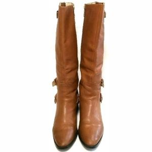 Michael Kors Shoes - Michael Kors Leather Tall Riding Boots Buckle